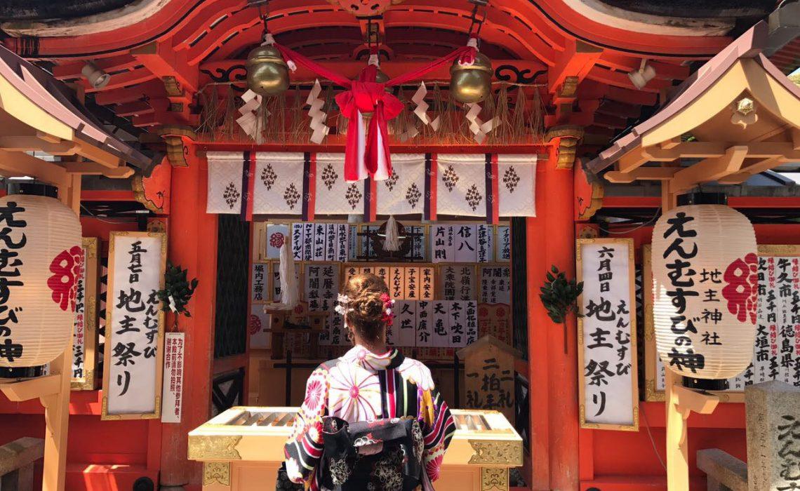 Se vestir de geisha em Kyoto Quioto Japão