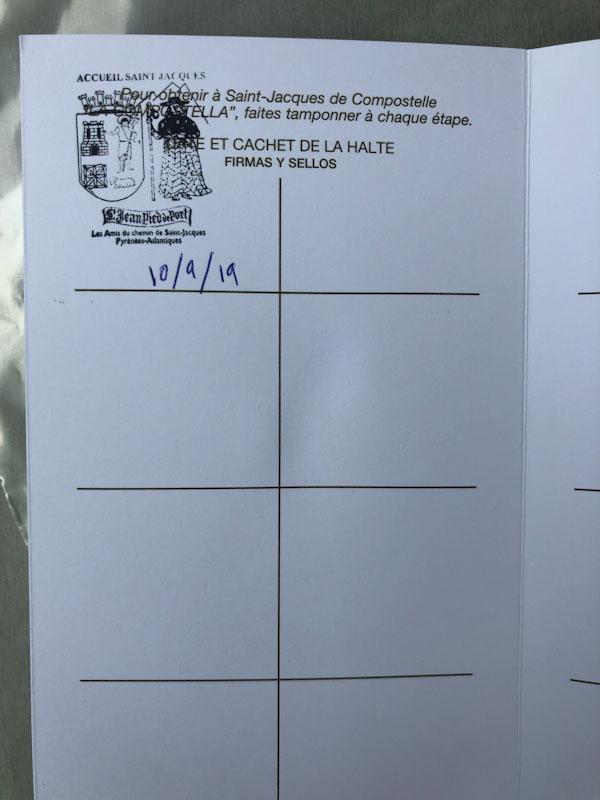 passaporte peregrino caminho de santiago