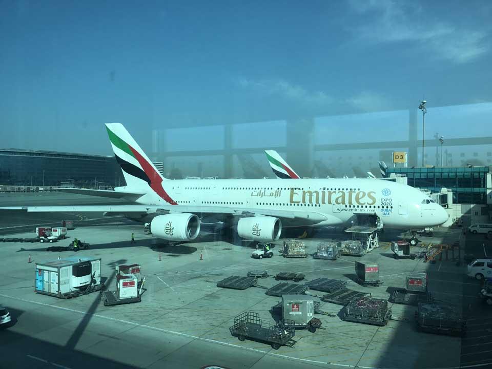 O gigante Airbus A380 da Emirates