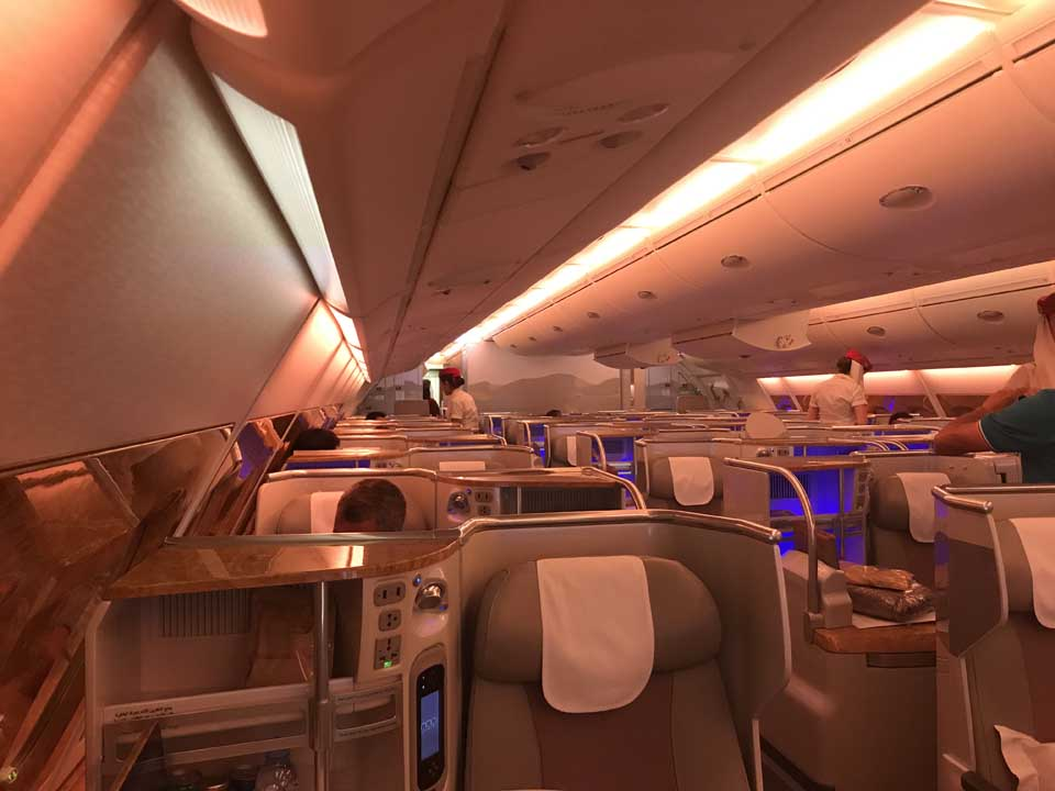 Business Class Airbus A380 Emirates