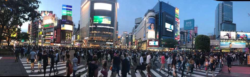 Shibuya Tóquio Japão - maior cruzamento do mundo