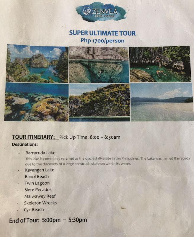Super Ultimate Tour Coron